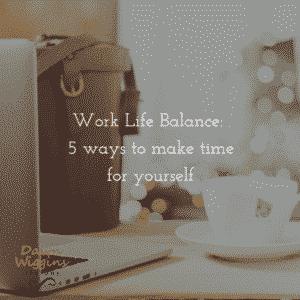 cup of tea next to laptop, symbolizing work life balance tips