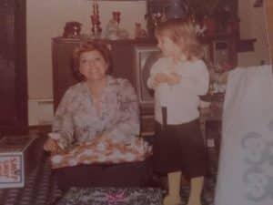 Jolyn with mom as a child