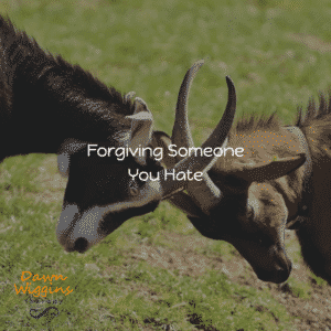 two goats fighting with each other, symbolizing the challenge of forgiving someone you hate