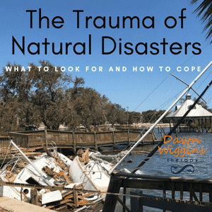 sail boats destroyed in the pier after hurricane Irma, coping with PTSD after a natural disaster