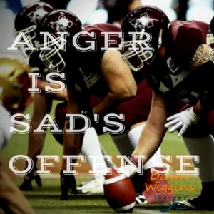 players in a game, representing anger is sad's offense, coping with anger
