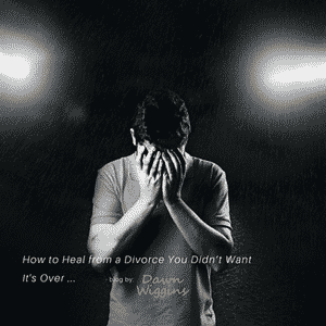 Anguished man after going through an unwanted divorce, how to heal from a divorce you didn't want