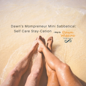 Couple on beach enjoying a stay-cation, Dawn's Mompreneur Mini Sabbatical: Self Care Stay-Cation