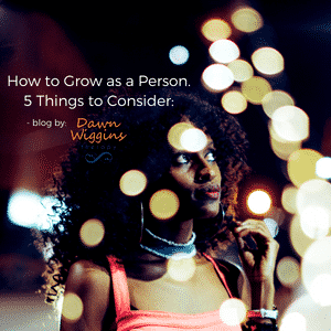 african american woman in red dress looking up to the night sky, how to grow as a person, 5 things to consider