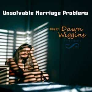 a woman sitting on her bed with the blinds closed, thinking about her unsolvable marriage problems