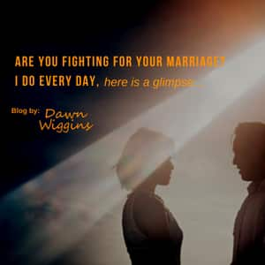 a couple outside, staying in front of each other, are you fighting for your marriage, I do every day