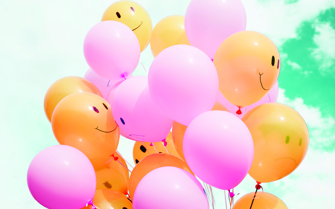 yellow and pink balloons with faces on it, Childhood Trauma effect on Adult Relationships