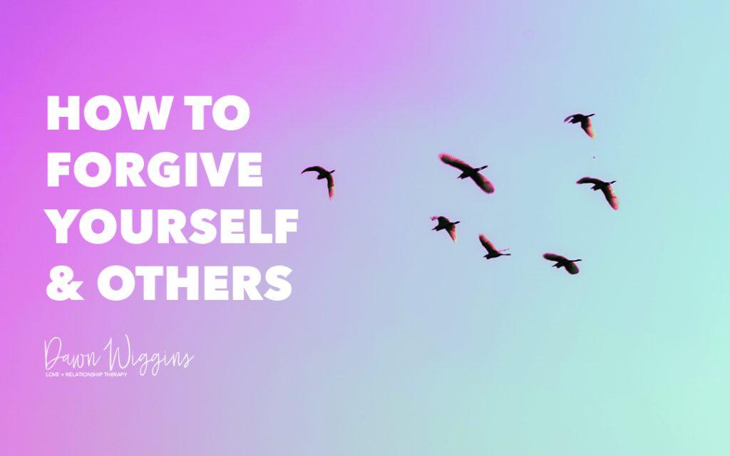 purple and blue background, birds flying in the sky, How to Forgive Yourself & Others