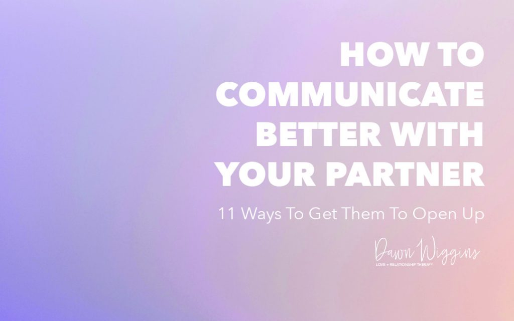 purple background, white letters, how to communicate better with your partner